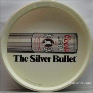coors silver bullet beer tray