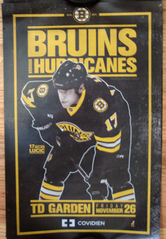 milan lucic boston bruins carolina hurricaines poster