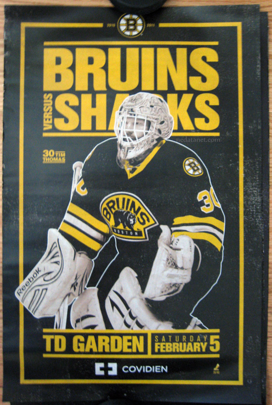 tim-thomas_bruins_sharks-gameday-poster
